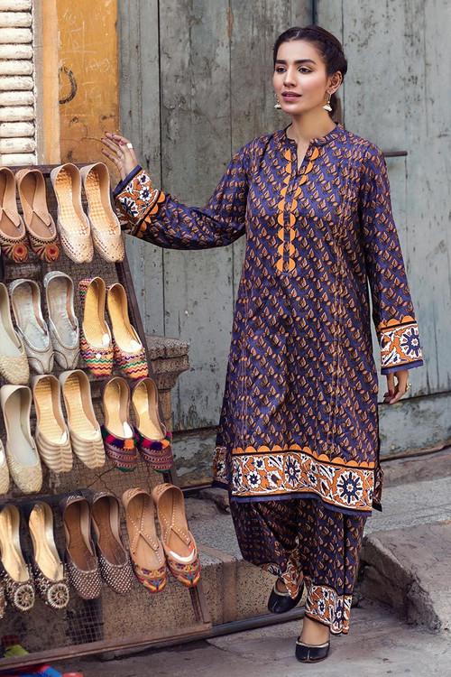 Gul Ahmed 1 Piece Custom Stitched Shirt - Purple - LB14610