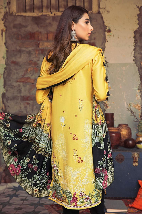 Gul Ahmed 3 Piece Custom Stitched Suit - Yellow - LB14644