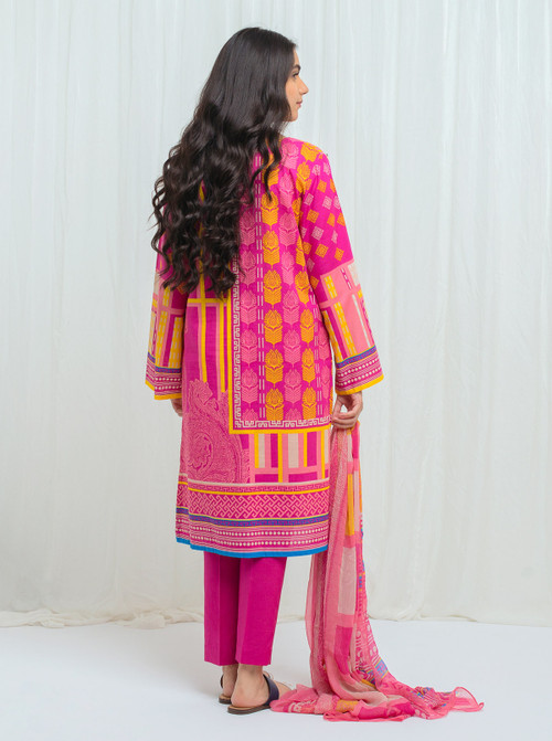 BeechTree 3 Piece Custom Stitched Suit - Pink - LBS14808