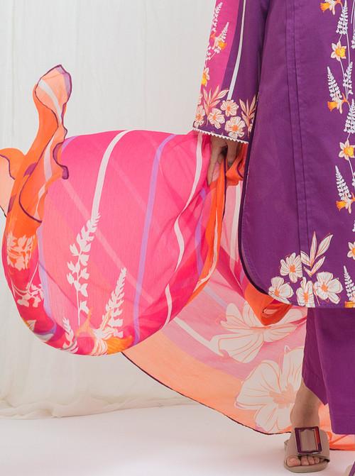 BeechTree 3 Piece Custom Stitched Suit - Purple - LBS14825
