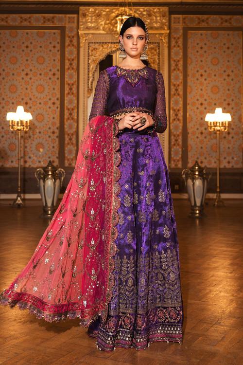 Maria B. 3 Piece Custom Stitched Suit - Purple - LB15698