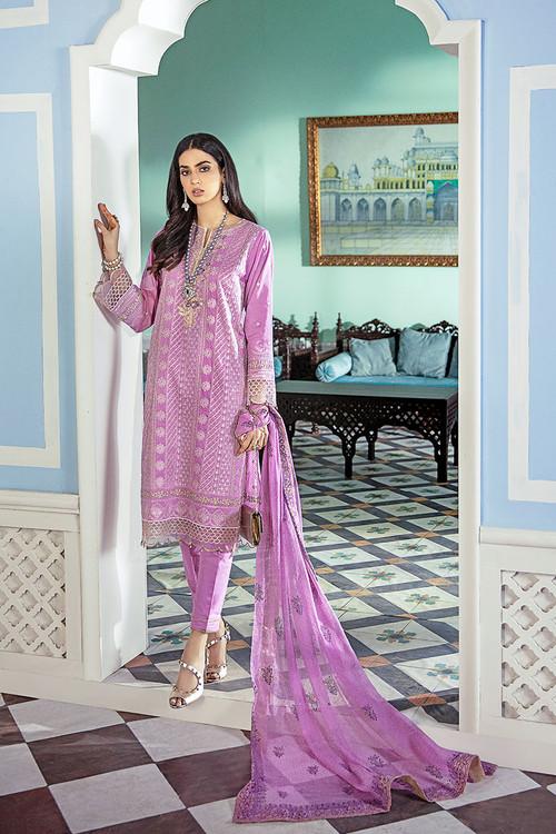 Gul Ahmed 3 Piece Custom Stitched Suit - Purple - LB15842