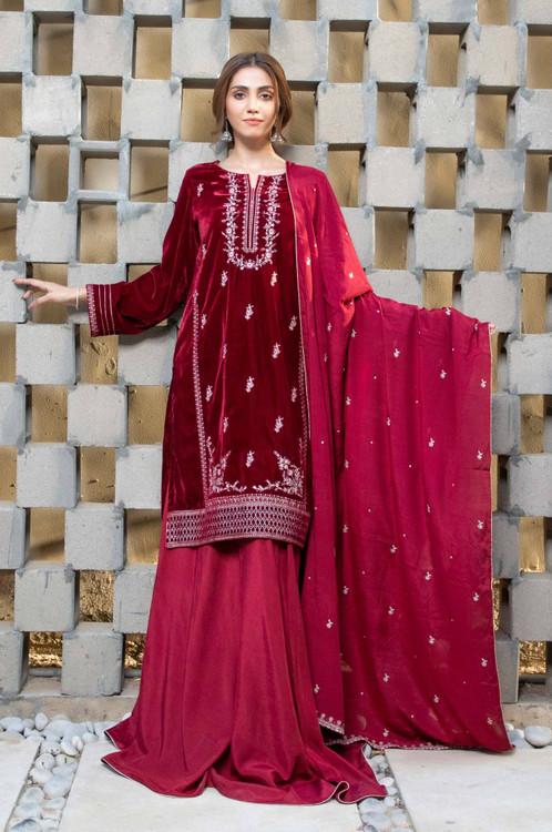 Zeen 3 Piece Custom Stitched Suit - Pink - LB15869