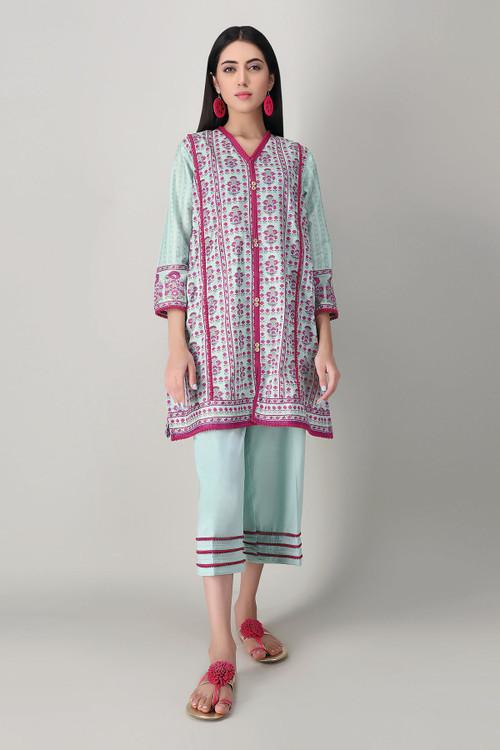 Khaadi 2 Piece Custom Stitched Suit - Blue - LB15980