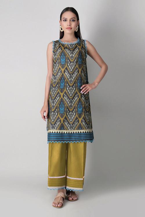 Khaadi 2 Piece Custom Stitched Suit - Brown - LB16031