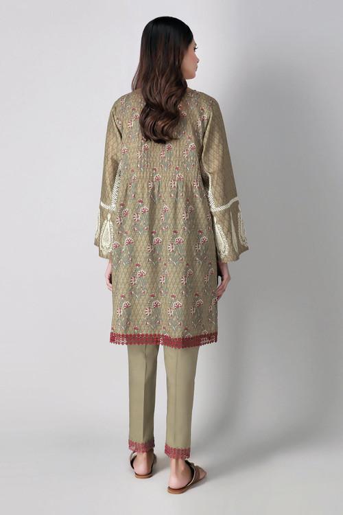 Khaadi 2 Piece Custom Stitched Suit - Brown - LB16038