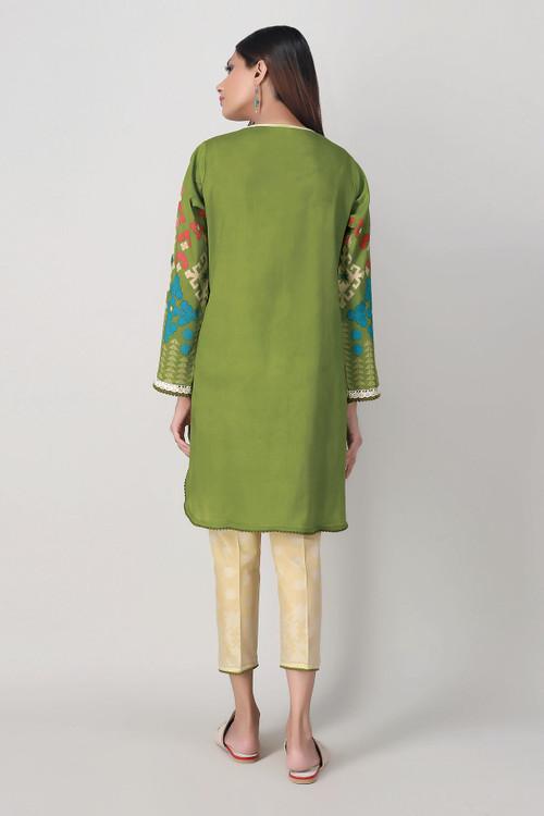 Khaadi 2 Piece Custom Stitched Suit - Green - LB16050