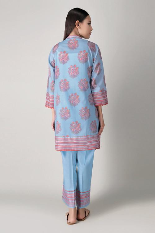 Khaadi 2 Piece Custom Stitched Suit - Blue - LB16061