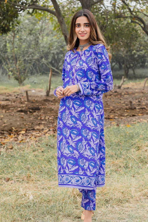 Gul Ahmed 1 Piece Custom Stitched Shirt - Blue - LB16445
