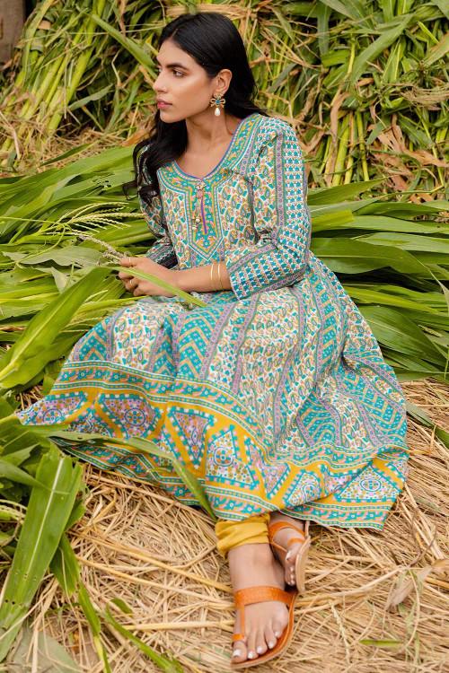 Gul Ahmed 1 Piece Custom Stitched Shirt - Blue - LB16447