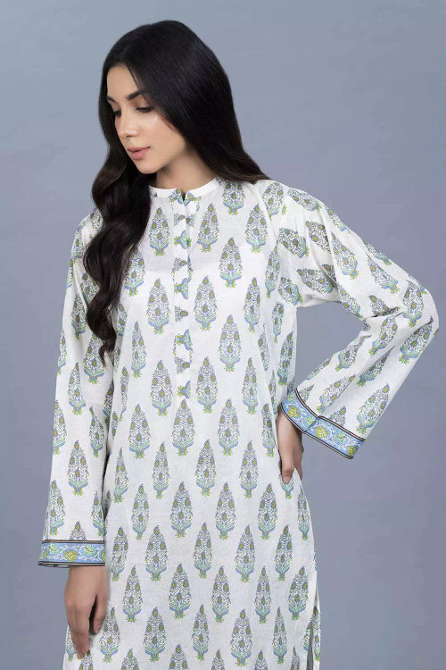 Gul Ahmed 1 Piece Custom Stitched Shirt - White - LB16449