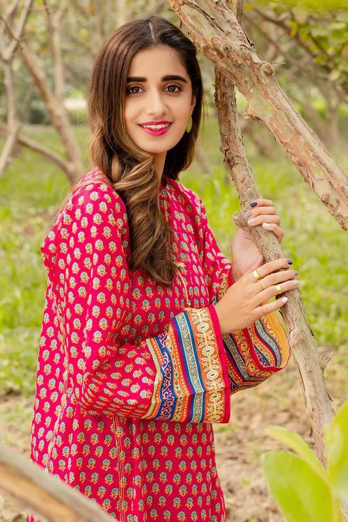 Gul Ahmed 1 Piece Custom Stitched Shirt - Pink - LB16450