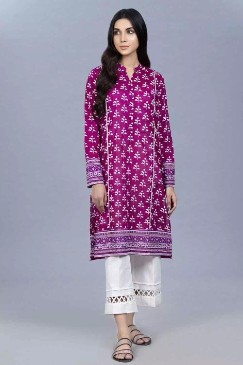 Gul Ahmed 1 Piece Custom Stitched Shirt - Purple - LB16451