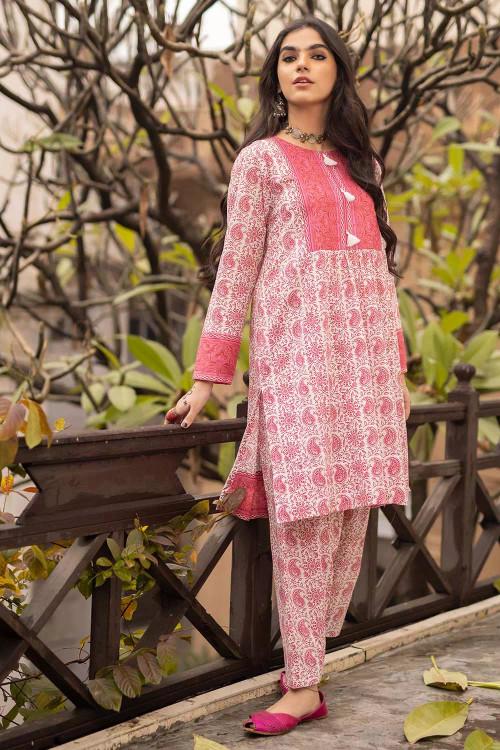 Gul Ahmed 1 Piece Custom Stitched Shirt - Pink - LB16452