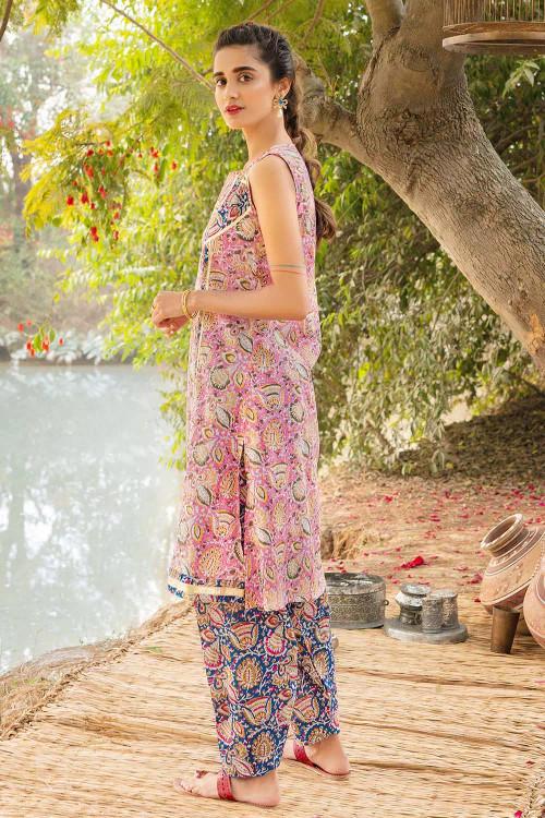 Gul Ahmed 1 Piece Custom Stitched Shirt - Pink - LB16456