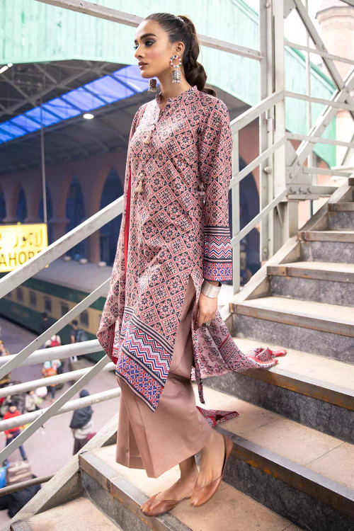 Gul Ahmed 2 Piece Custom Stitched Suit - Purple - LB16457