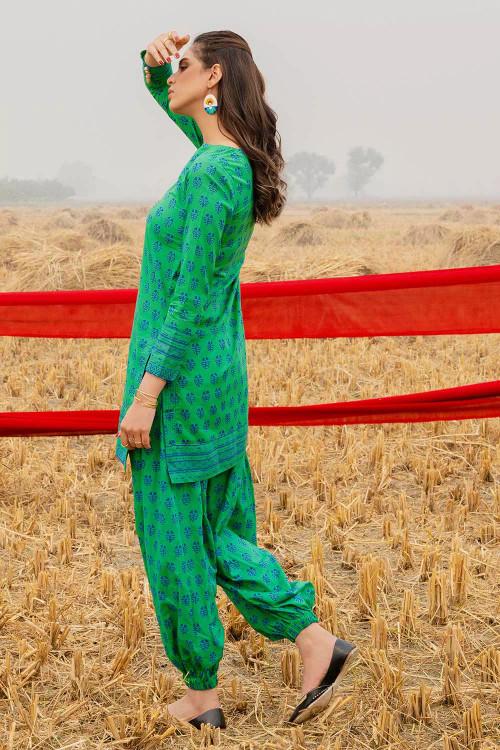 Gul Ahmed 1 Piece Custom Stitched Shirt - Green - LB16458