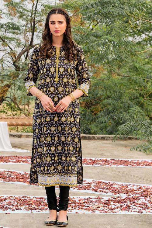 Gul Ahmed 1 Piece Custom Stitched Shirt - Black - LB16460