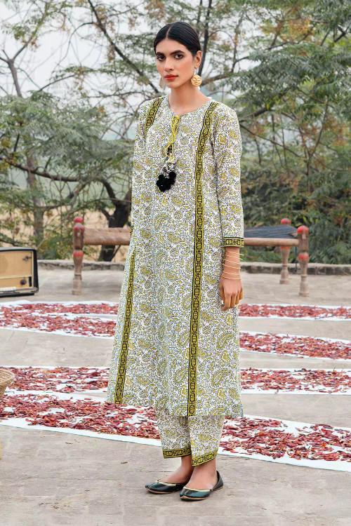 Gul Ahmed 1 Piece Custom Stitched Shirt - Green - LB16461