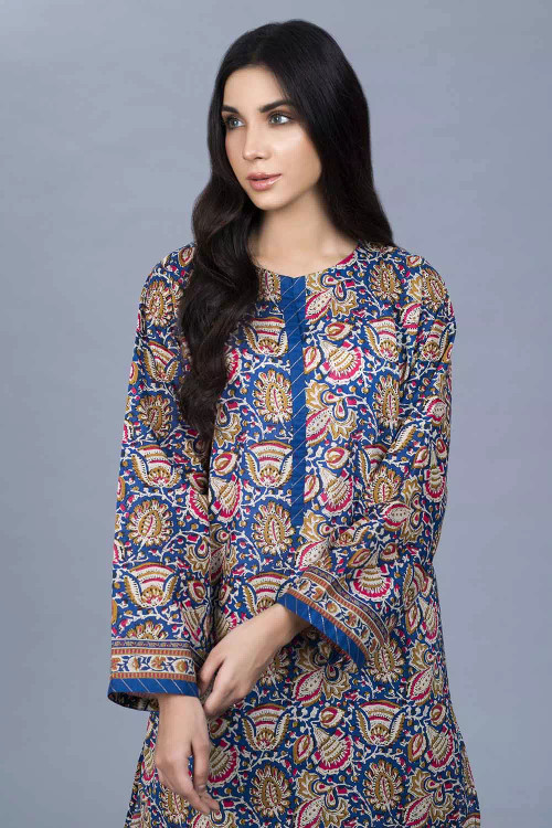 Gul Ahmed 1 Piece Custom Stitched Shirt - Blue - LB16464