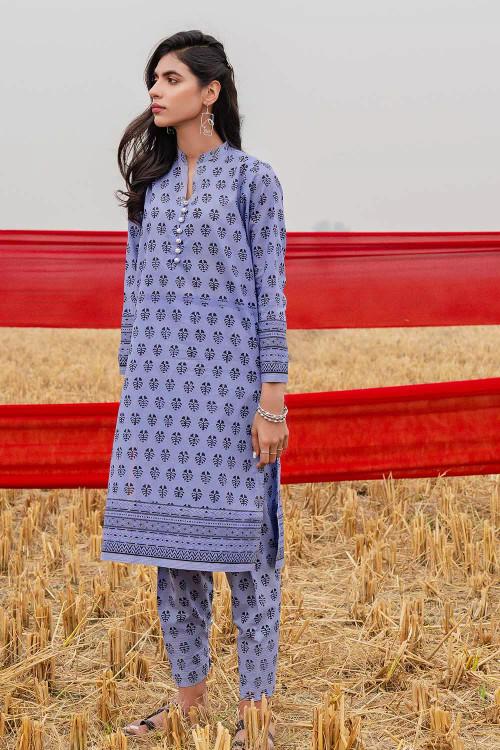 Gul Ahmed 1 Piece Custom Stitched Shirt - Blue - LB16467