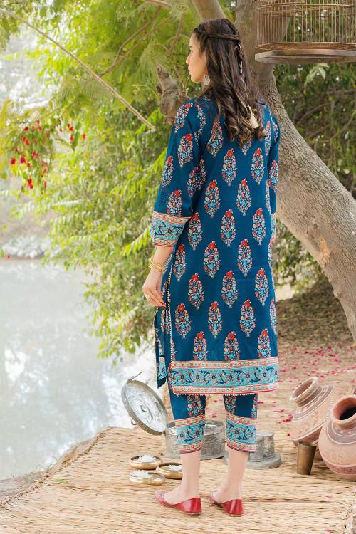Gul Ahmed 1 Piece Custom Stitched Shirt - Blue - LB16468