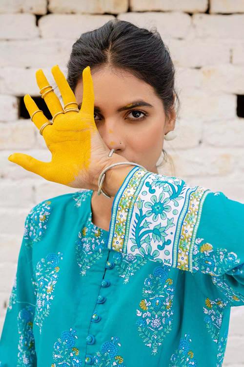 Gul Ahmed 1 Piece Custom Stitched Shirt - Blue - LB16469