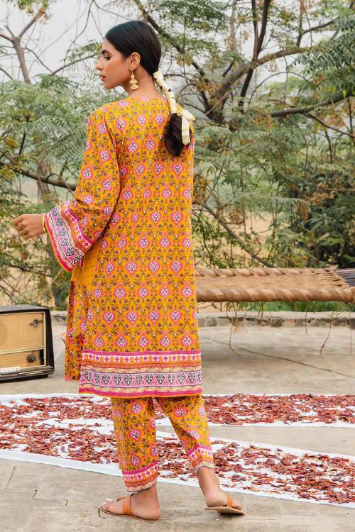 Gul Ahmed 1 Piece Custom Stitched Shirt - Yellow - LB16472