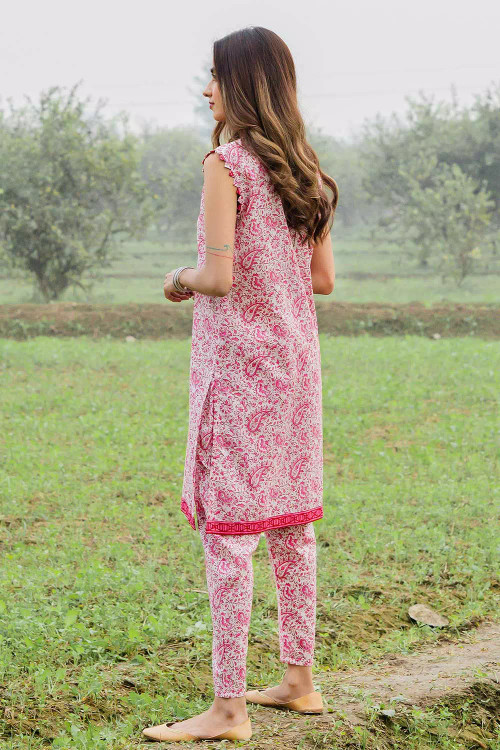 Gul Ahmed 1 Piece Custom Stitched Shirt - Pink - LB16473