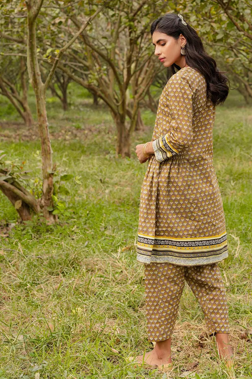Gul Ahmed 1 Piece Custom Stitched Shirt - Brown - LB16475