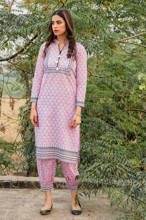 Gul Ahmed 1 Piece Custom Stitched Shirt - Purple - LB16476