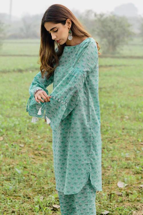 Gul Ahmed 1 Piece Custom Stitched Shirt - Green - LB16477