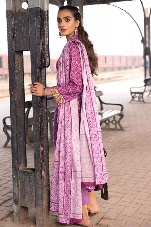 Gul Ahmed 2 Piece Custom Stitched Suit - Purple - LB16480