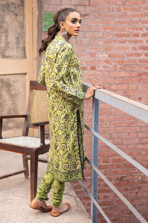 Gul Ahmed 2 Piece Custom Stitched Suit - Green - LB16481