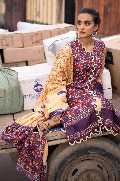 Gul Ahmed 2 Piece Custom Stitched Suit - Blue - LB16484