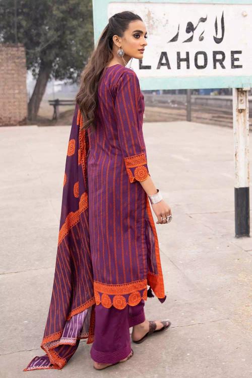 Gul Ahmed 2 Piece Custom Stitched Suit - Purple - LB16485