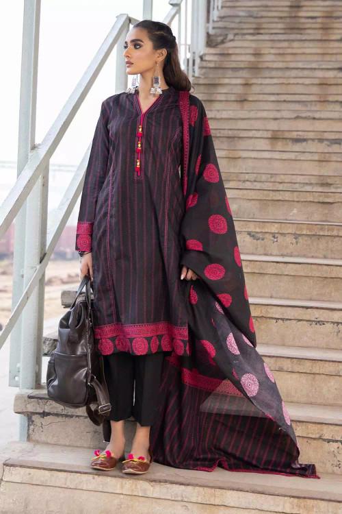 Gul Ahmed 2 Piece Custom Stitched Suit - Black - LB16486