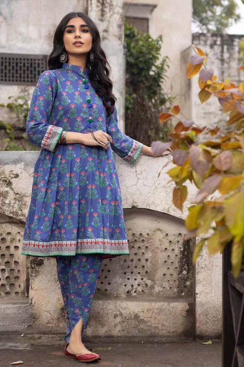 Gul Ahmed 1 Piece Custom Stitched Shirt - Blue - LB16489