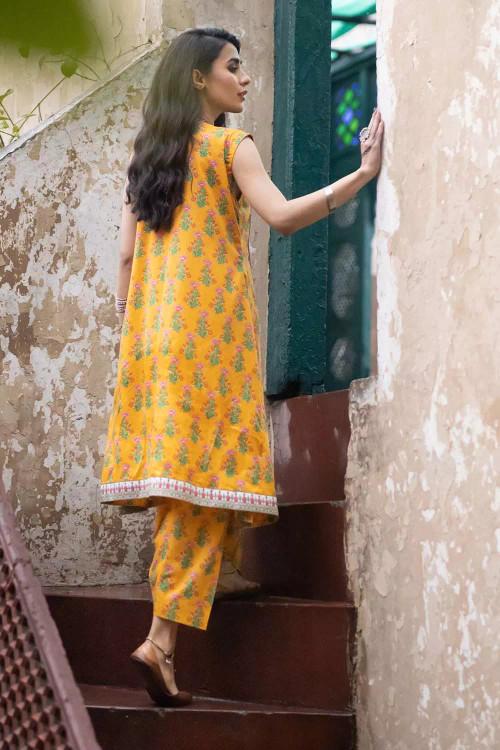 Gul Ahmed 1 Piece Custom Stitched Shirt - Yellow - LB16490