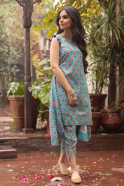 Gul Ahmed 1 Piece Custom Stitched Shirt - Blue - LB16492