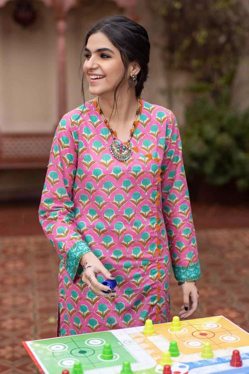 Gul Ahmed 1 Piece Custom Stitched Shirt - Pink - LB16493