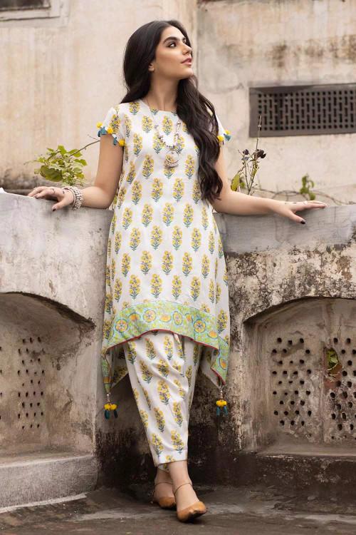 Gul Ahmed 1 Piece Custom Stitched Shirt - White - LB16495