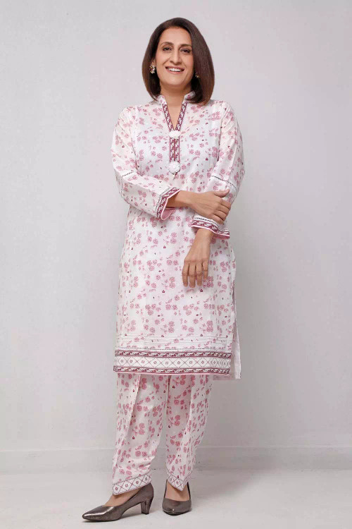 Gul Ahmed 1 Piece Custom Stitched Shirt - White - LB16556