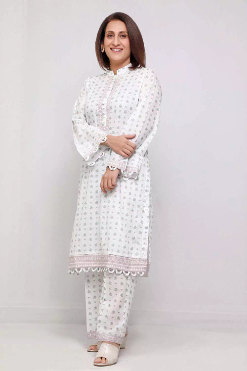 Gul Ahmed 1 Piece Custom Stitched Shirt - White - LB16558
