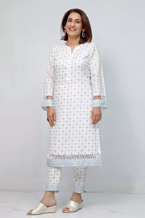 Gul Ahmed 1 Piece Custom Stitched Shirt - White - LB16559