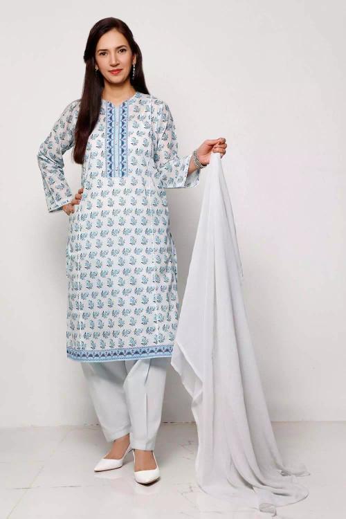 Gul Ahmed 1 Piece Custom Stitched Shirt - Blue - LB16560