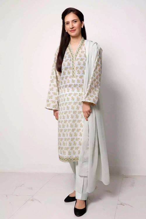 Gul Ahmed 1 Piece Custom Stitched Shirt - Grey - LB16561
