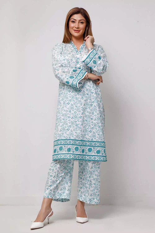 Gul Ahmed 1 Piece Custom Stitched Shirt - Blue - LB16562