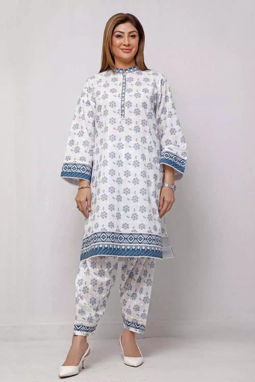 Gul Ahmed 1 Piece Custom Stitched Shirt - White - LB16563