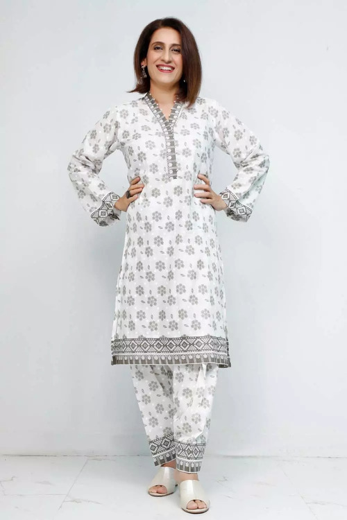 Gul Ahmed 1 Piece Custom Stitched Shirt - Grey - LB16564